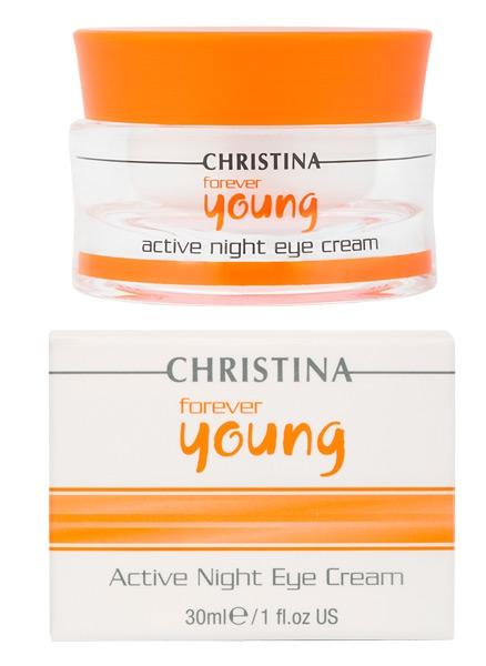 "Ночной крем для глаз ""Супер-актив"" - Christina Forever Young Active Night Eye Cream - 1"