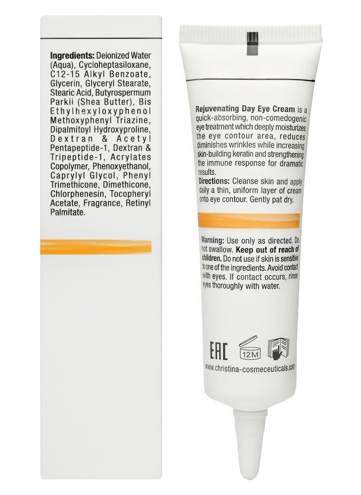 CHRISTINA Forever Young Rejuvenating Day Eye Cream SPF15 - Омолаживающий дневной крем для зоны глаз - 2