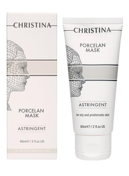 Поросуживающая фарфоровая маска для жирной и проблемной кожи - Christina Porcelan Astrigent Porcelan Mask - 1