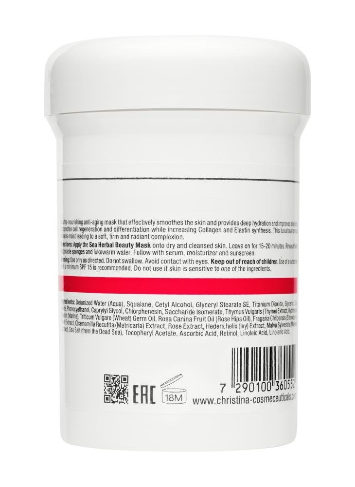 CHRISTINA Sea Herbal Beauty Mask Strawberry - Клубничная маска красоты для нормальной кожи - 1