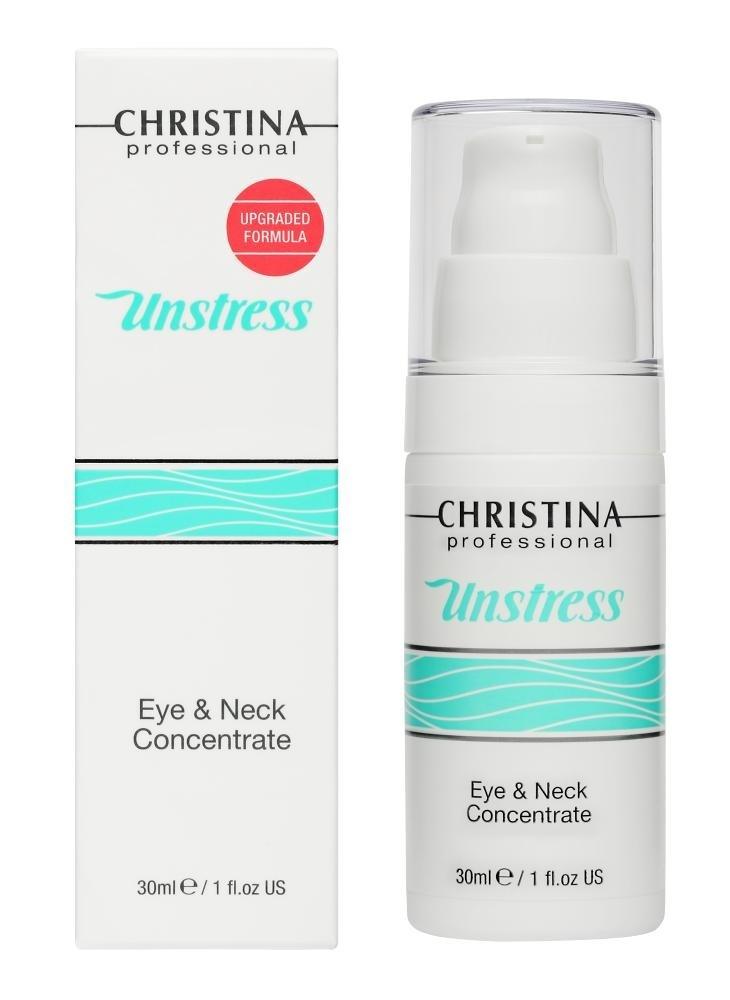 CHRISTINA Unstress Eye and Neck concetrate - Концентрат для кожи вокруг глаз и шеи - 1