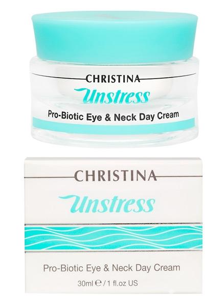 """Дневной крем для кожи вокруг глаз и шеи """"Пробиотик"""" - Christina Unstress Probiotic day cream for eye and Neck - 1"""