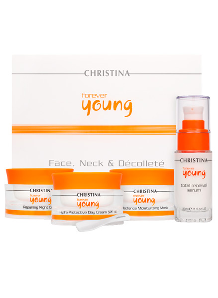 Набор для лица, шеи и декольте - Christina Forever Young Face, Neck & Decollete Kit